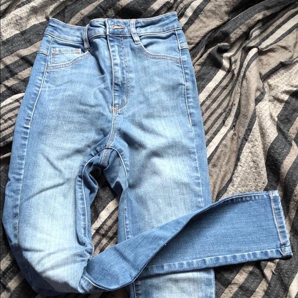 garage high rise skinny jeans